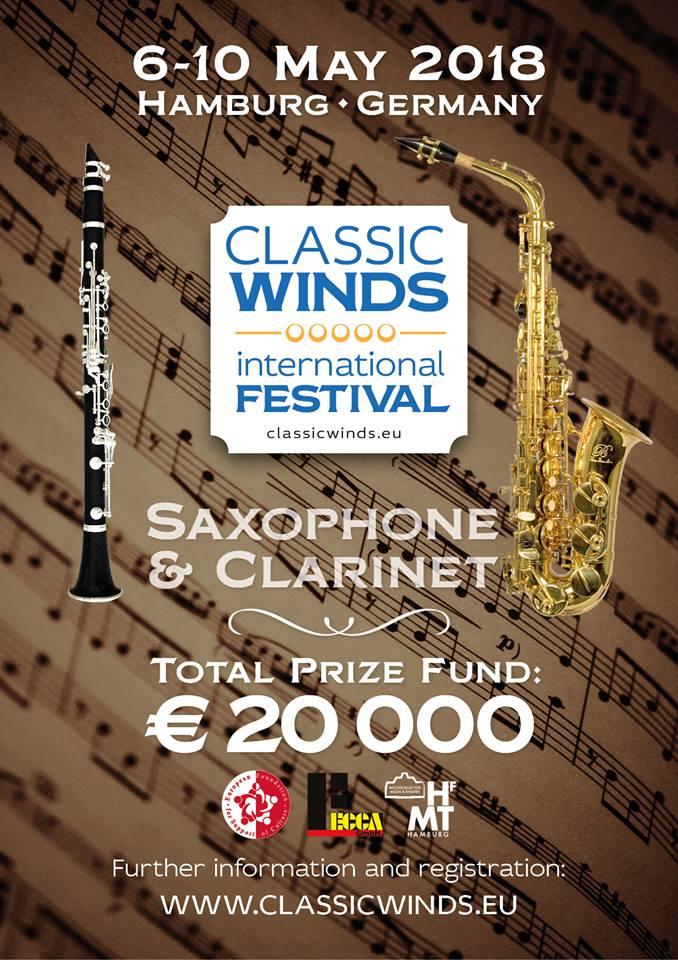 """Wir freuen uns sehr und sind stolz darauf, Ihnen das internationale Musikfestival """"Classical Winds"""" vorzustellen."""