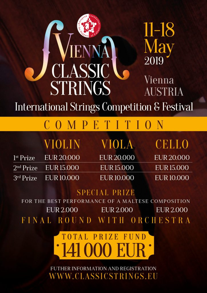 """Vienna Classic Strings"" International Violin, Viola and Cello Competition and Festival"